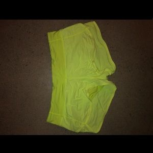 Yellow neon lululemon size 10 shorts